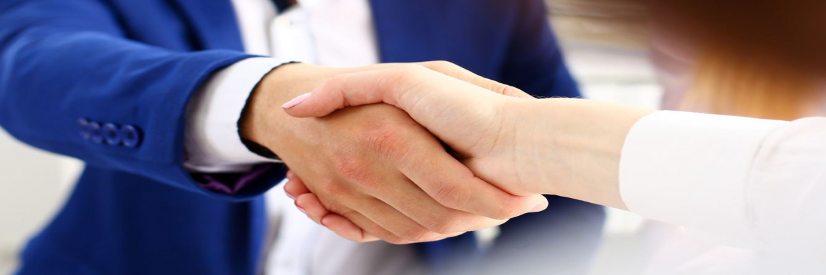 Two People Giving a Handshake